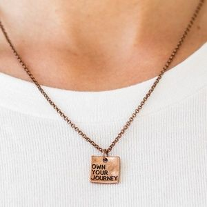 Copper Inspirational Necklace